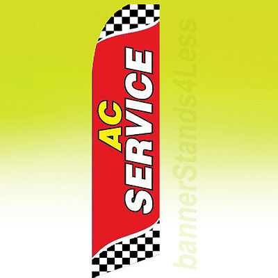 Ac Service Swooper Flag Feather Flutter Air Conditioning Auto Sign 11.5 - Y-rb