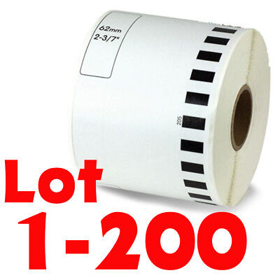 Lot 1-200rolls Dk-2205 Continuous Label Compatible Brother Option Of Cartridge