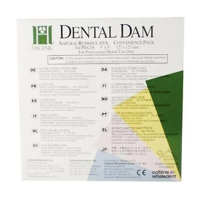 Hygenic 5 X 5 Medium Green Dental Dam Bulk Pak Of 364 Coltenewhaledent