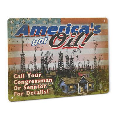 Americas Got Oil Metal Sign Dakota Access Pipeline Fracking Drilling Energy