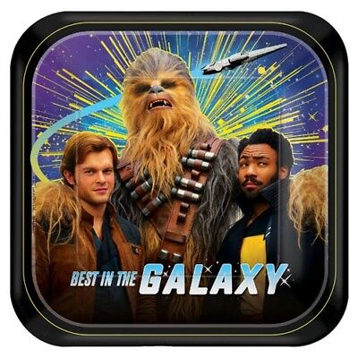 STAR WAR Solo SMALL PAPER PLATES (8) ~ Birthday Party Supplies Cake Lando Han