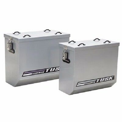 Tusk Aluminum Panniers Medium Silver Dual Sport Adventure Saddle Bags Pannier for sale  Shipping to Canada