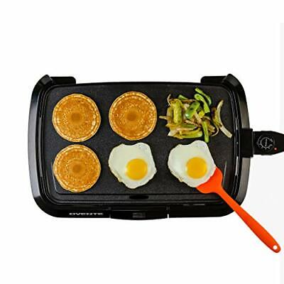 Ovente Electric Griddle with 16 × 10 Inch Non-Stick Cooking Plate, (Black)