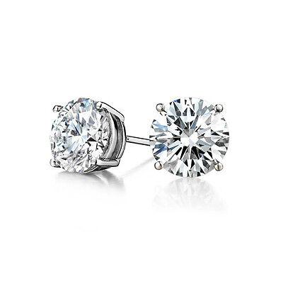 Wg 1 Carat Diamond Stud (.50CT Men/Women's Amazing Round Cut VS2 H Diamond Stud Earrings 14K WG 1/2)