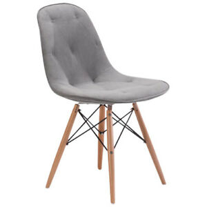 Samir Modern Dining Chair - Grey New in Box