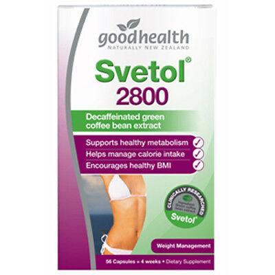 OK champion Health - Svetol 2,800 Decaffeinated green coffee bean extract - 56 Capsules