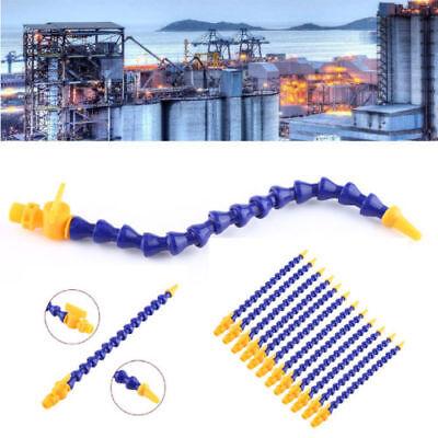 12pcs Water Oil Coolant Pipe Hose Plastic Adjustable Flexible Lathe CNC Machine Plastic Flexible Tube