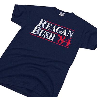 REAGAN BUSH `84 political election tee conservative 80s retro Republican (Reagan Republican)