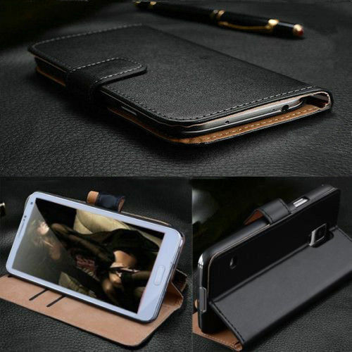 Luxury PU Leather Flip Wallet ID Card Holder Case Cover Pouch For LG G3