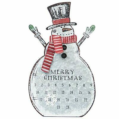Sunnyglade Christmas Advent Calendar Metal Snowman Table Top Decoration Wall ...