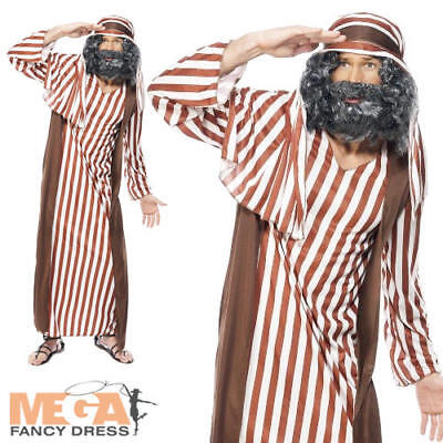 Shepherd Mens Fancy Dress Christmas Nativity Adults Joseph Xams Costume Outfit
