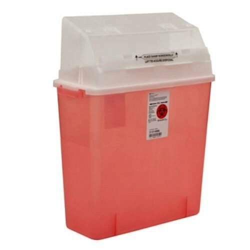 Multi-purpose Sharps Container, 3 Gallon, Translucent Red Base - Case of 12