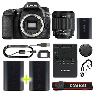 Canon 80D Digital SLR Camera with 18-55mm IS STM Lens + Backup Power Kit