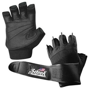 Schiek PLATINUM SERIES Lifting Gloves with WRIST WRAPS Model 540 BLACK