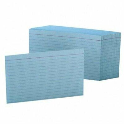 Esselte Printable Index Card - 4 X 6 - 90 Lb - 100 Pack - Blue 7421blu