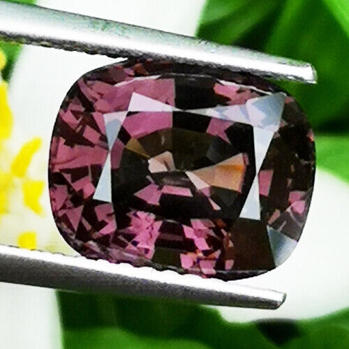 UNHEATED 4.35CT NATURAL PURPLE PINK CUSHION SPINEL