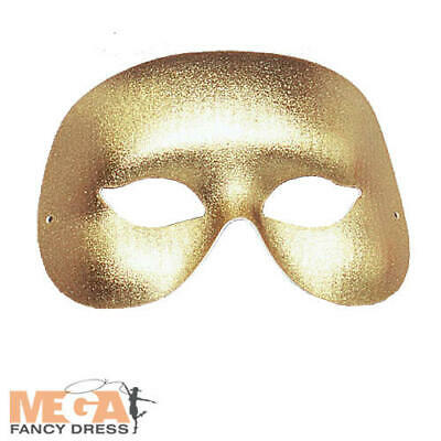 Gold Cocktail Eye Mask Adults Fancy Dress Masquerade Ball Mens Ladies Costume - Cocktail Fancy Dress Kostüm