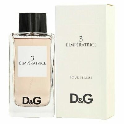 3 L'IMPERATRICE BY DOLCE & GABBANA 3.3 OZ EDT SPRAY *WOMEN'S PERFUME* NEW SEALED