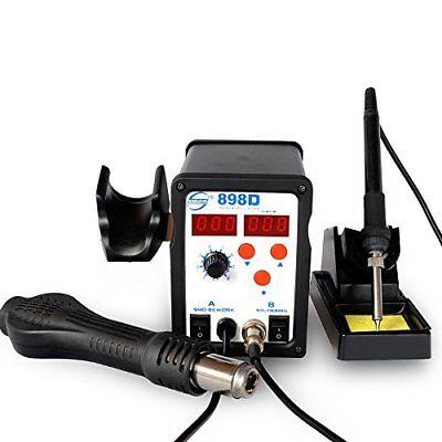 Rework Soldering Station kit 898D SMD Digital 2 in 1 Hot Air Soldering Iron