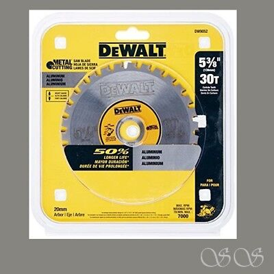 Dewalt 5-38-inch 30 Tooth Aluminum And Non-ferrous Metal Cutting Saw Blade 20mm
