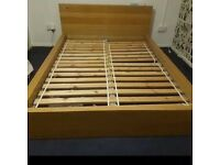 Ikea malm king-size double bed with mattress