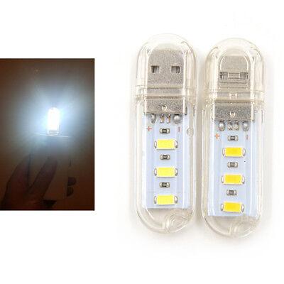 2pcs Mini USB LED Night light Camping lamp For Reading Bulb Laptops Computerk IU
