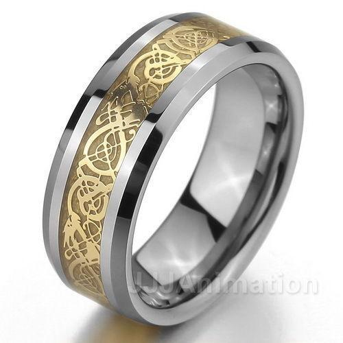Mens celtic wedding bands ebay for Celtic wedding rings for men