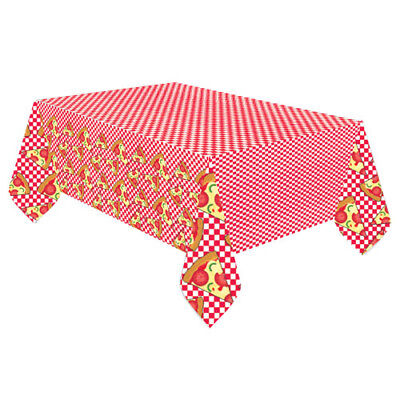 HAPPY BIRTHDAY PIZZA PARTY PAPER TABLE COVER ~ Birthday Party Supplies Cloth