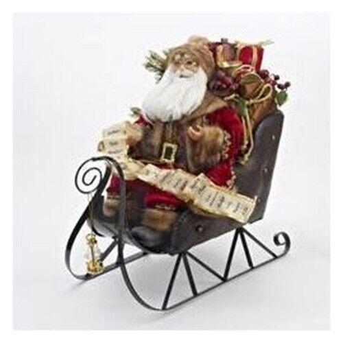 Kurt Adler Santa on Sleigh-D1919