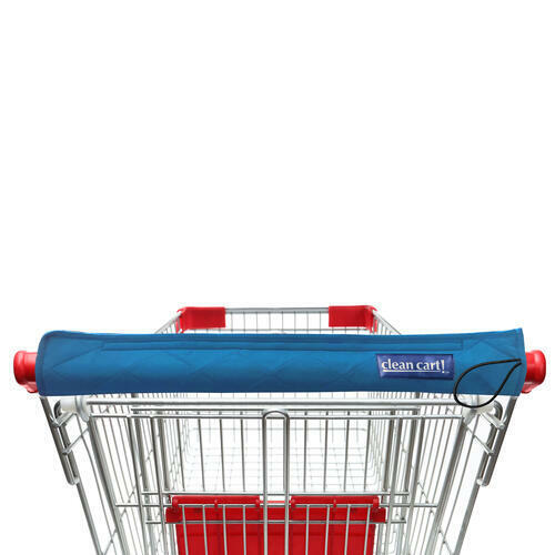 BLUE Clean Shopping Cart Handle Guard Reusable Cover Sanitary Washable Wipeable