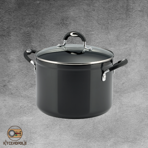 Stock Pot 8 Qt Non Stick Cookware Aluminum Durable Cooking T