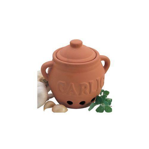 Cks Garlic Storage Pot with Beech Lid T300