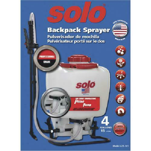 Garden Backpack Sprayer  4 Gallon Piston High-Pressure Pump