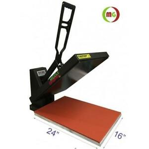 "New! 16 X 24"" Heat Press (Flat) with Teflon-coated heat element----Vertical Style"