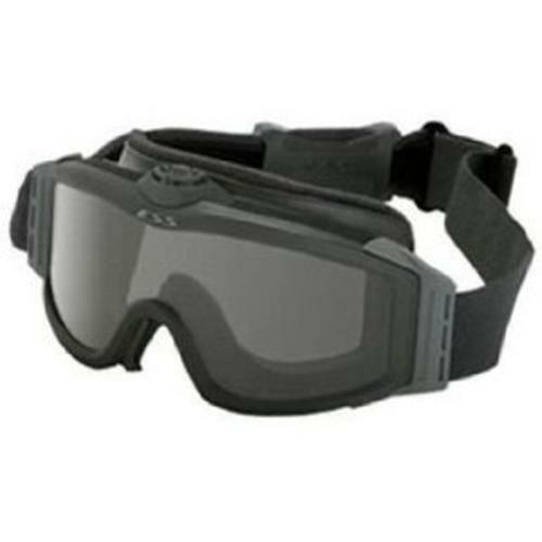 ESS Eyewear 740-0132 Clear/Smoke Asian-Fit Turbo Fan Black Goggles