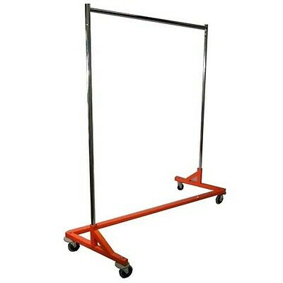 New Nib Z-rack Orange Retail Store-home 4 Wheels Adjust Upright To 80 H