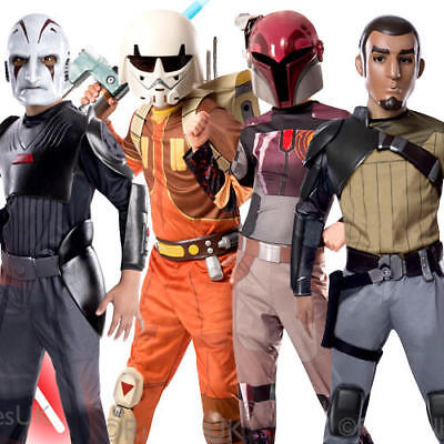 Star Wars Rebels Kids Fancy Dress Cartoon TV Show Scifi Childrens Childs Costume
