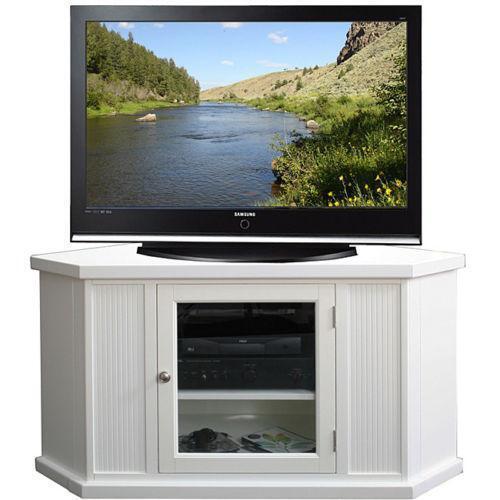 white corner tv stand ebay. Black Bedroom Furniture Sets. Home Design Ideas