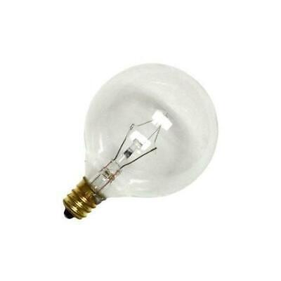 Bulbrite 60G16CL2 60W G16 Globe 120V Candelabra Light Bulb, Clear