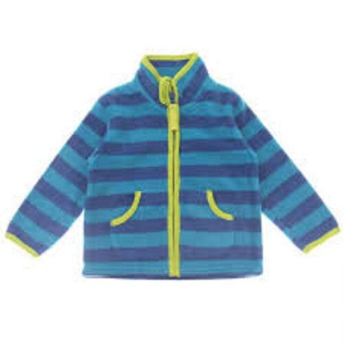 BABY Jungen Pullover Kinder Fleece Weste, blau gestreift Gr. 86
