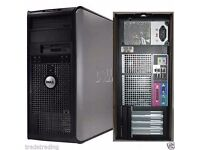 Dell Core 2 Duo 3.00GHz Tower PC Computer - 8GB RAM - 500GB HD Wi-Fi