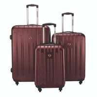 *SWISS GEAR* SW12283 3Pc Expandable SPINNER LUGGAGE - MERLOT