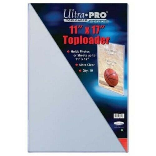 """Pack of 10 Poster Toploaders 11"""" x 17"""" Photos Sheets Holder UltraPro NEW SEALED"""