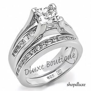 sterling silver wedding rings sets for women