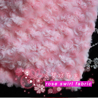 Ткань Pink Rose Swirl Plush Fabric
