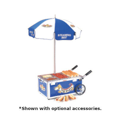 Nemco 6550-dw Mini Countertop Hot Dog Steamer Cart