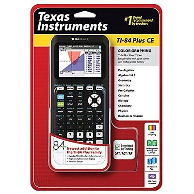 Texas Instruments TI-84 Plus Ce Graphing Calculator Black  Very Good