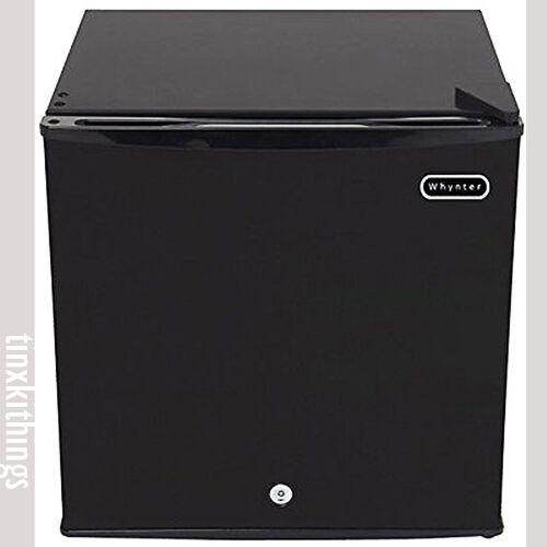 Compact Upright Freezer w Lock 1.1CuFt Small Black Kitchen O