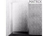 Matrix 800mm Premium Barrel Hinged Shower Door 6mm Glass - PEPV80