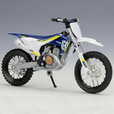 HUSQVARNA FC 450 1:18 Die-Cast Motocross MX Toy Model Bike Blue White